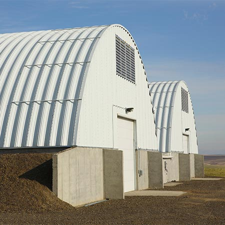 Crop Storage Double Barrel Buildings