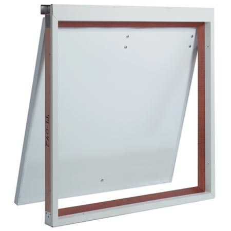 Thermadoor electronically controlled insualted door for air flow