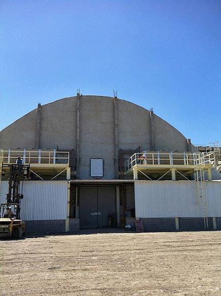 Potato bin storage facility for Mr Free Bin Storage, Los Mochis, Mexico