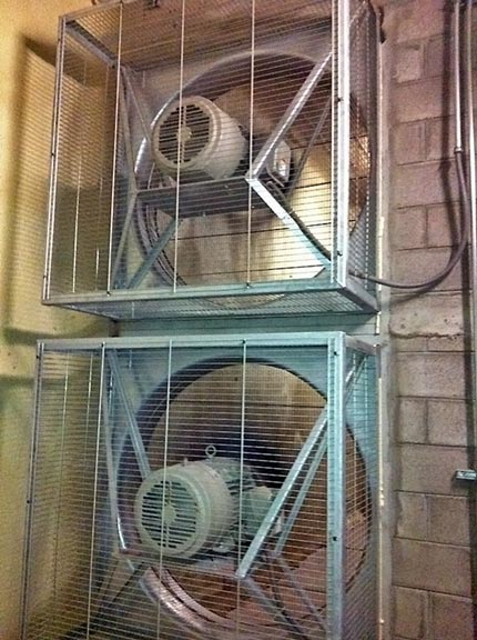 These prop fans are used for the most effective air movement, customized to this specific use.