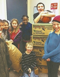 IVI donated potatoes to the Boys and Girls Club of Ada County in 2012