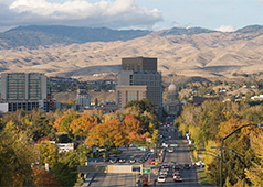 Boise, Idaho's largest city, 20 miles away