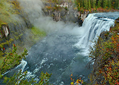 Mesa Falls at Island Park, 79 miles from Idaho Falls