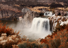 Shoshone Falls, 38 miles from Heyburn