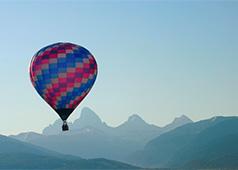 Grand Tetons from Driggs, Idaho, 73 miles away