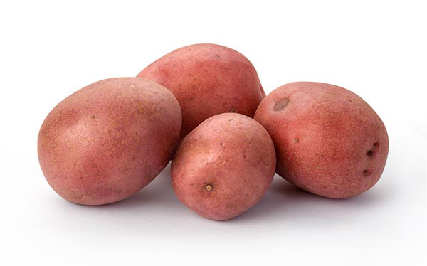 Pile of red skin potatoes