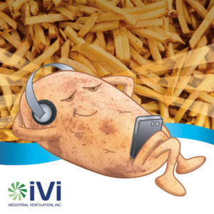 Russ, IVI's spokes potato lounging with some french fries